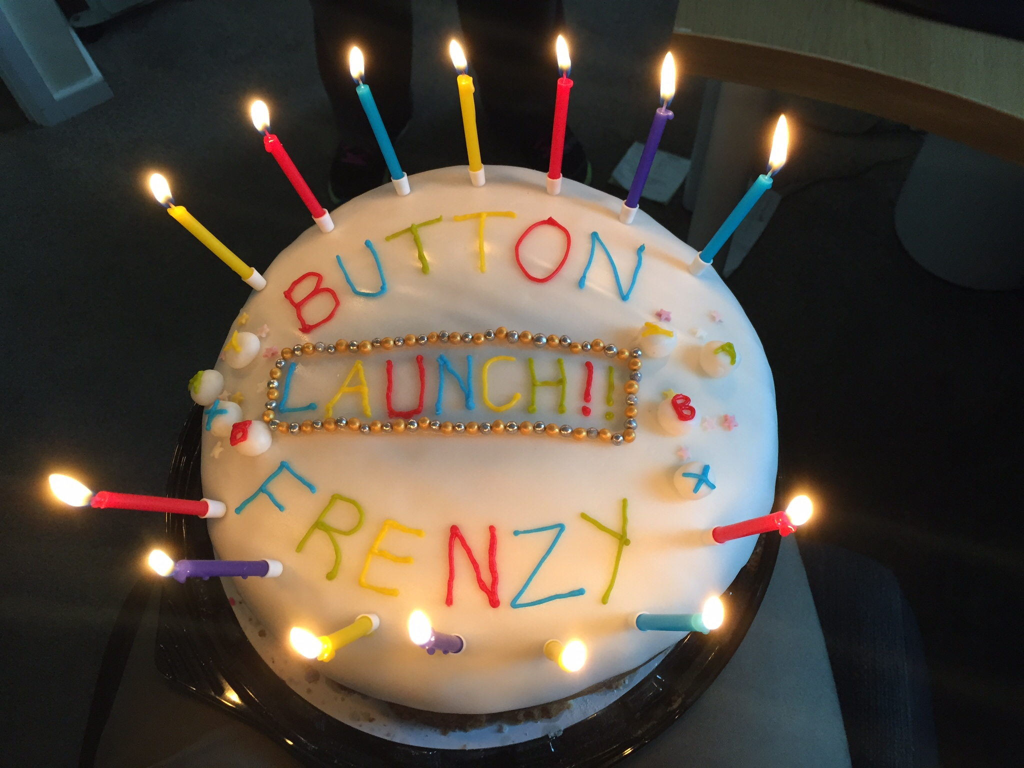 Launch celebration cake